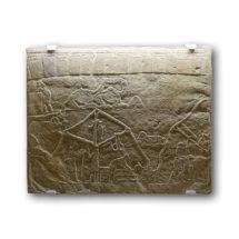 Asszír tábori jelenet. Relief Assurbanipal (Kr.e. 668 ̶ 627) ninivei palotájából