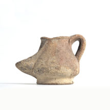 Kancsó alakú egyégős mécses Egyiptomból